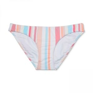 NWT Xhilaration Stripe Bikini Bottom Medium